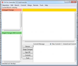 Git GUI open repository